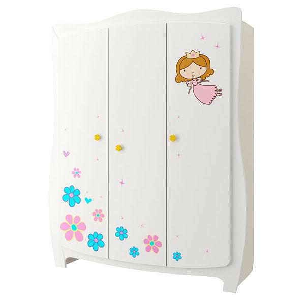 Шкаф трехстворчатый Принцесса